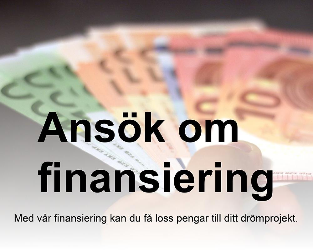 Ansök om finansiering