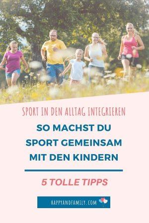 Sport mit Kindern Pin