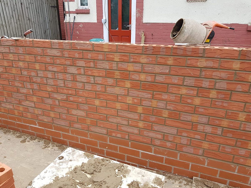Bricklaying example Hardbrick Construction