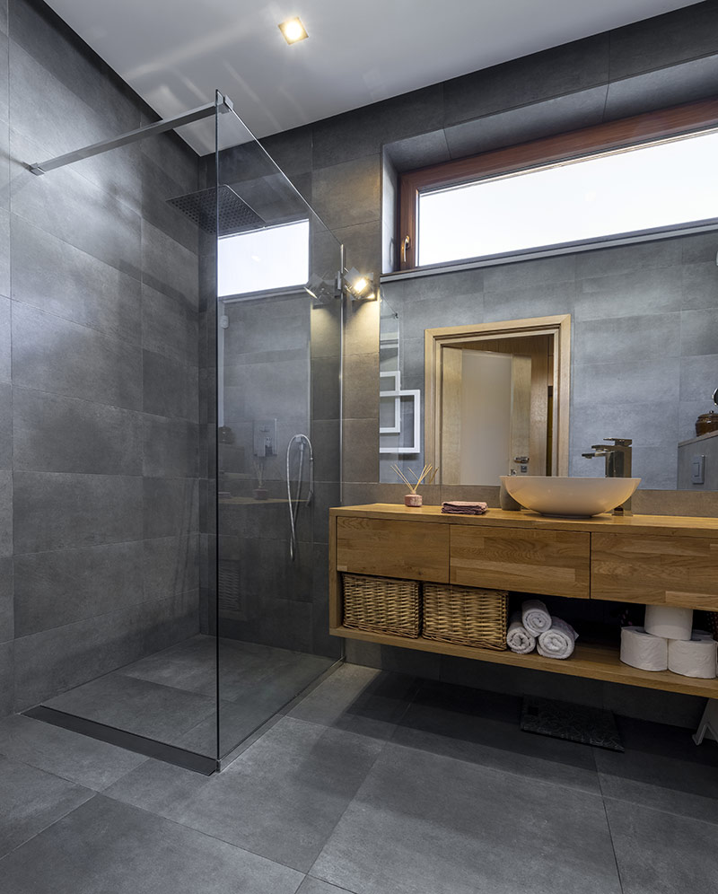 bathroom design, build and installation services Hardbrick Construction