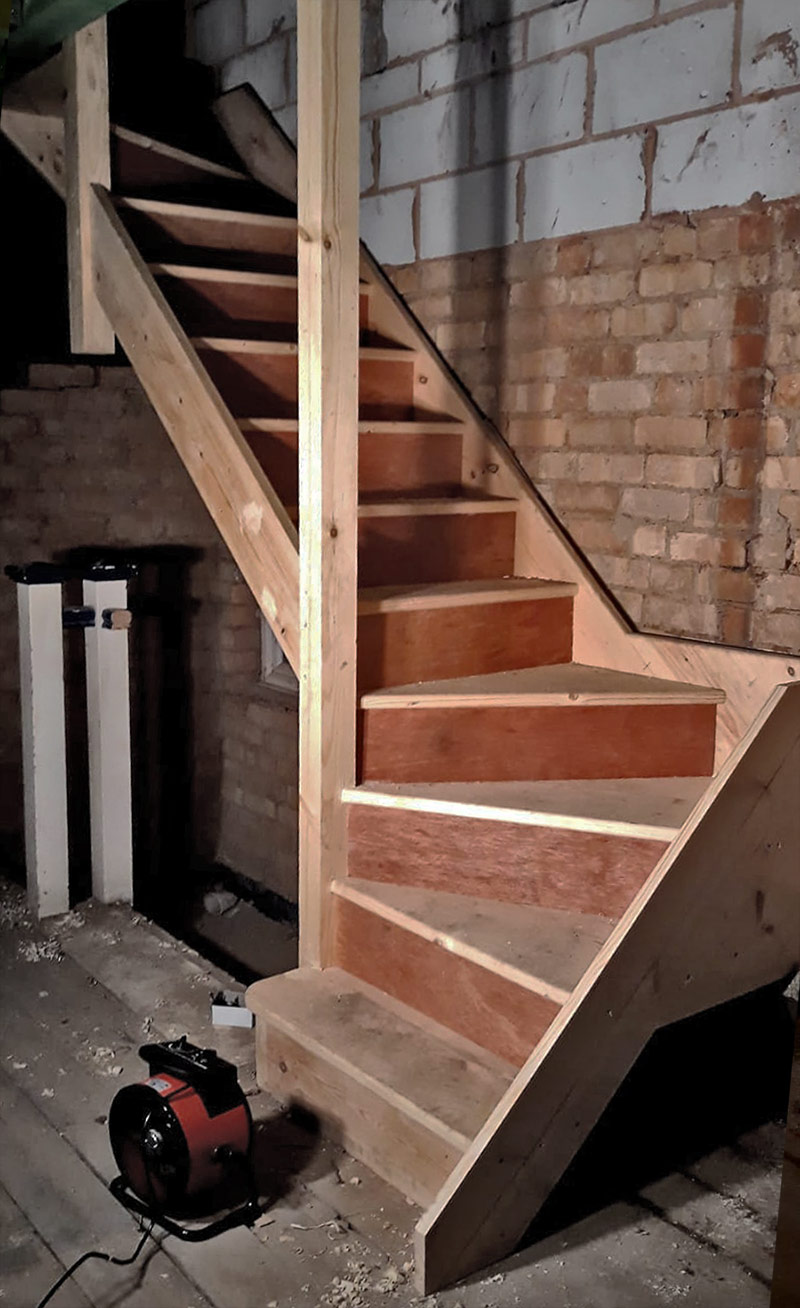 Staircase Carpentry services - Hardbrick Construction