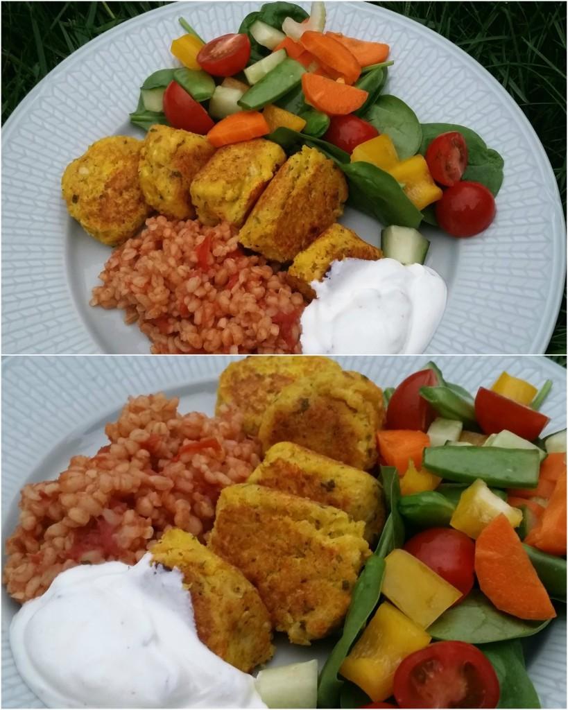falafel med smak av curry