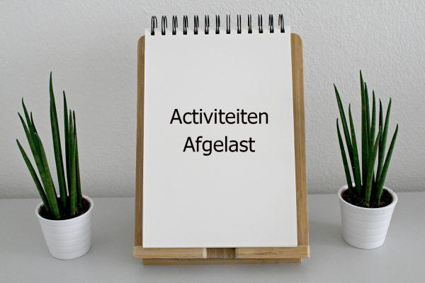 Activiteiten afgelast