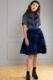 high-fashion ruffled chiffon skirt