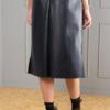 straight leather-look skirt