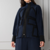 eccentric-light-jacket with high collar