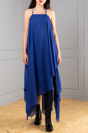 A-line layered chiffon dress