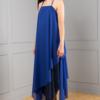 A-line layered chiffon dress