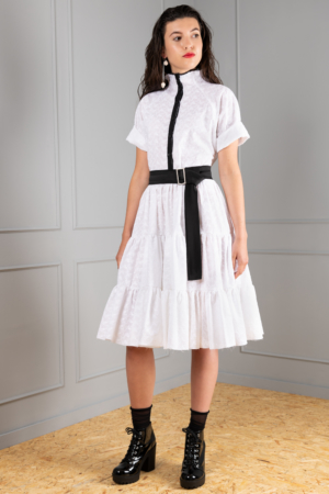 frilly dress with broderie-anglaise