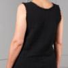 black hydrophilic cotton sleeveless top back