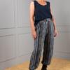 blue cotton sleeveless top