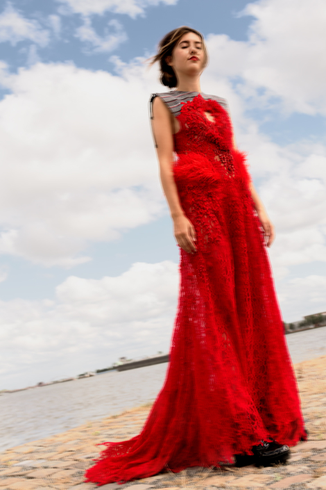 Haruco-vert red lace dress editorial
