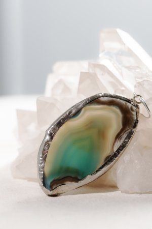 Turquoise agate statement solo earring