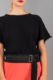 black hydrophilic cotton top