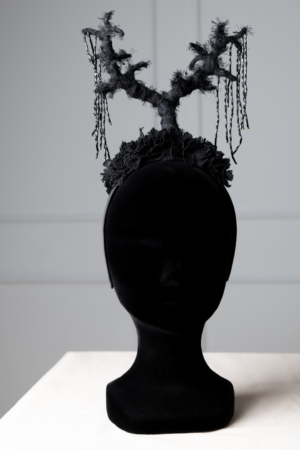 unique black headpiece