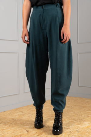 curved petrol trousers