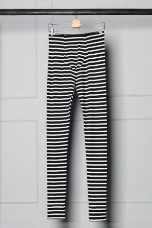 striped unisex leggings
