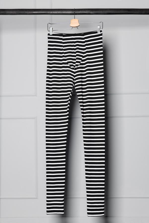 striped unisex leggings