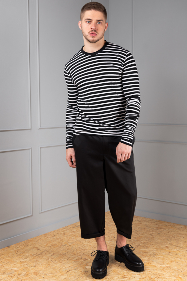 striped long sleeve for men