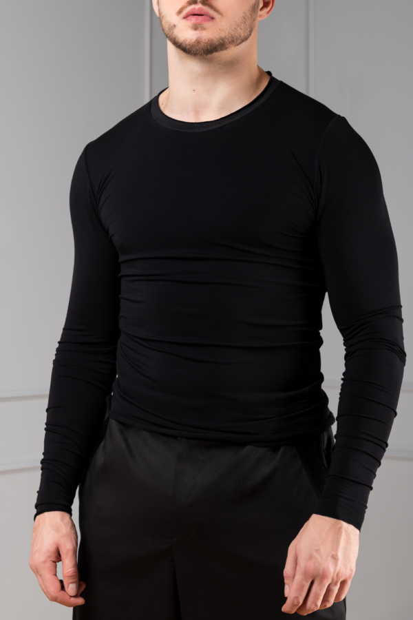 black bamboo long sleeve for men