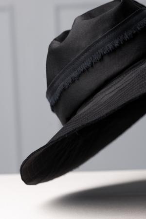 unique black mens hat