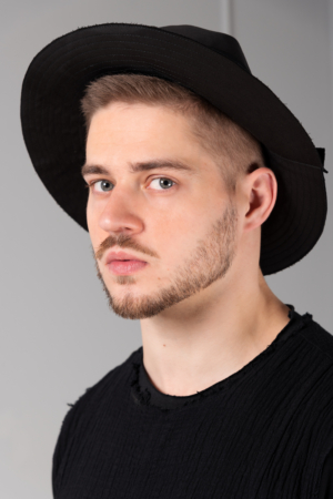 unique black mens hat