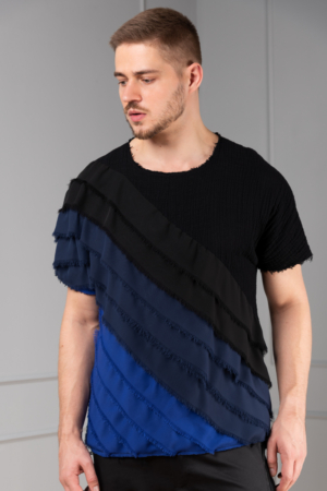 black cotton top for men