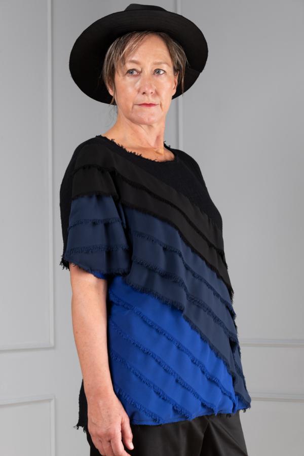 black cotton top for women