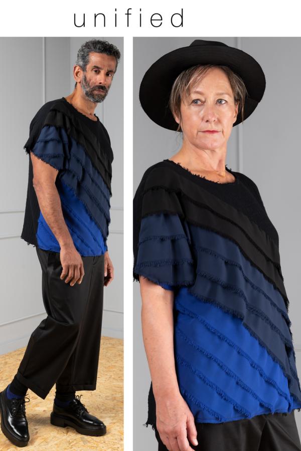 black cotton unisex top