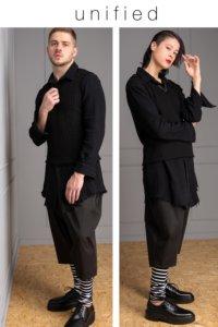 elegant 7/8 unisex trousers