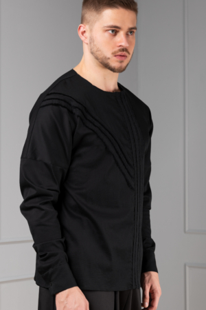 black graphic shirt for men