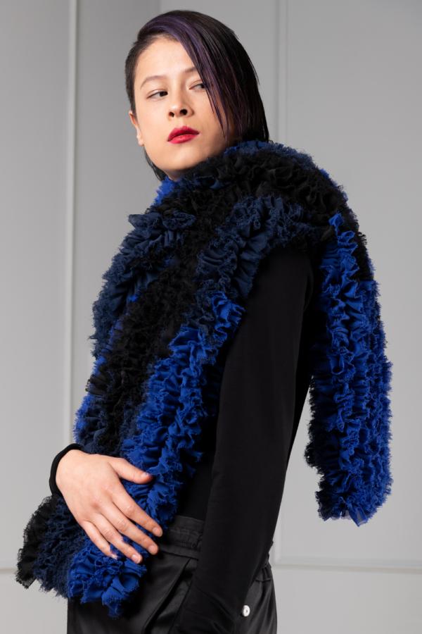 ruffled chiffon womens shawl