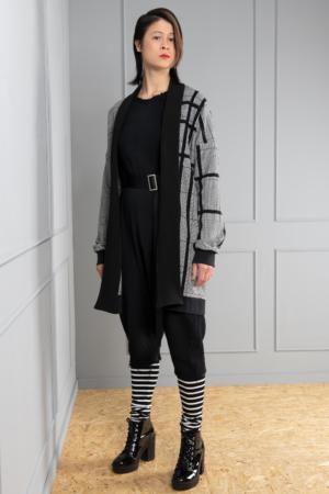 houndstooth women's cardigan
