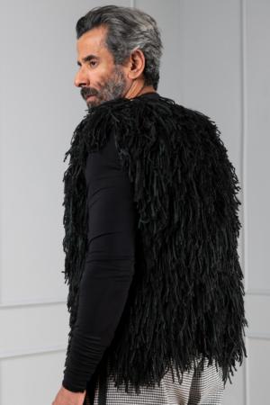 black unisex cardigan