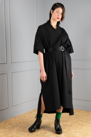 black jersey women's kaftan