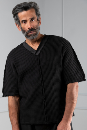 black knitted mens top