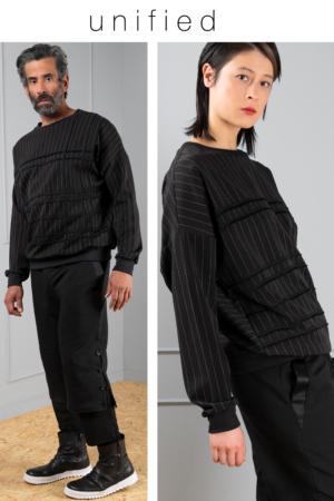 pinstripe unisex sweater