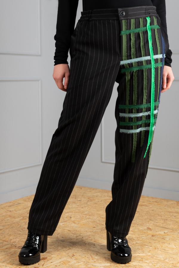 pinstripe women's trousers