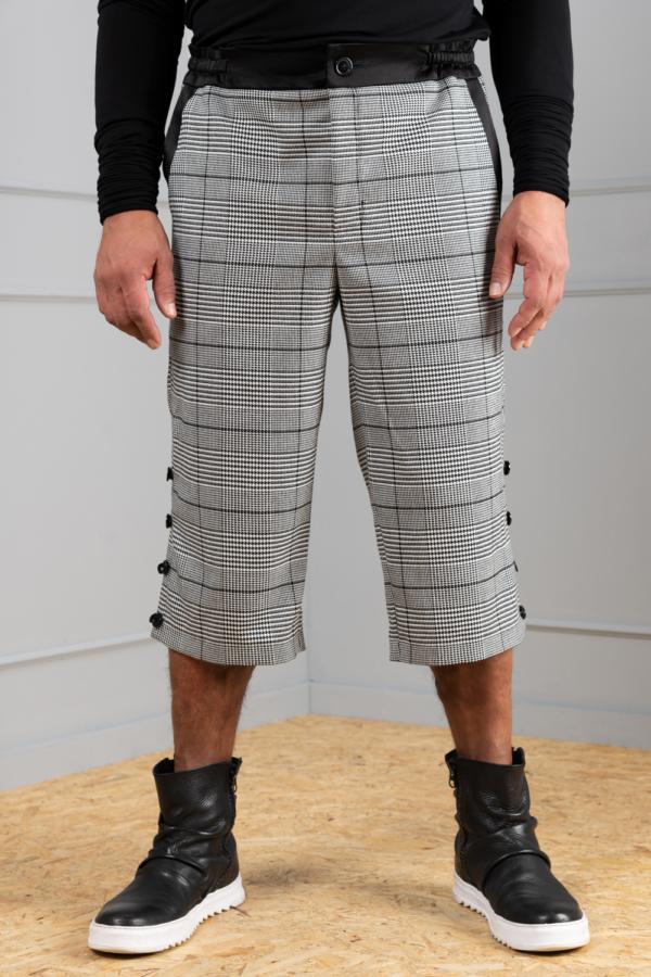 houndstooth men's long shorts