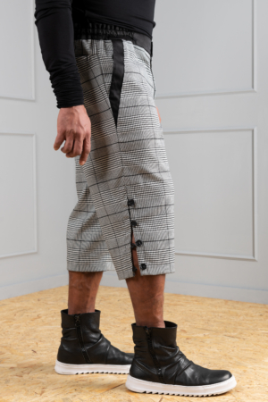 houndstooth knee shorts