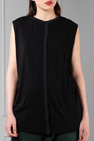 black bamboo women's sleeveless tee
