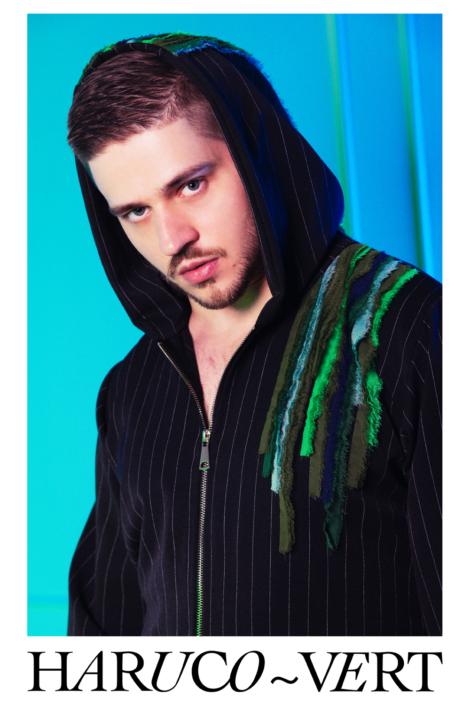 Designer Fashion pinstripe hoodie