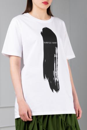 white women's graphic-print tee