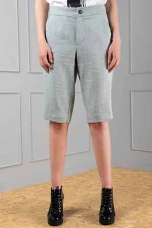 women's linen long shorts