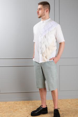 men's linen long shorts