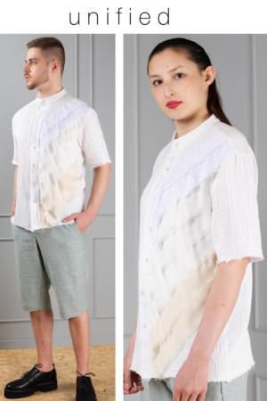 boan-off-white-cotton-unisex-shirt-with-chiffon-strips
