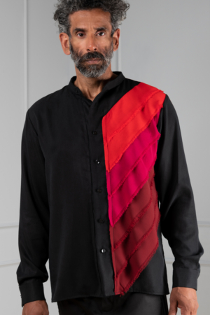 black Tencel men's shirt