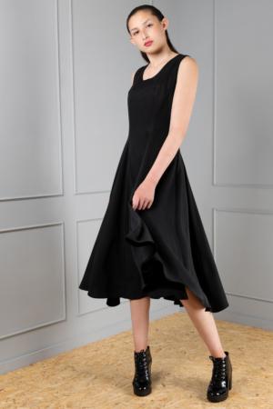 flowy black Tencel dress