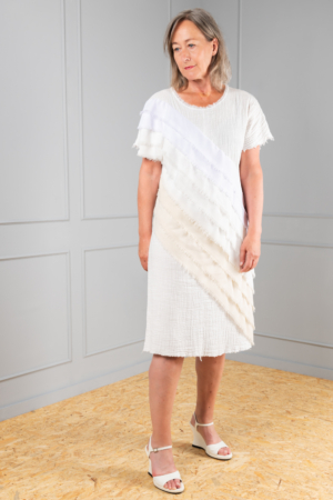 off-white cotton dress