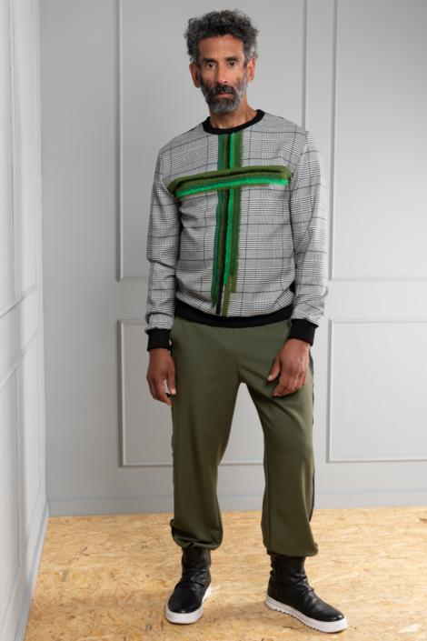 houndstooth sweater men